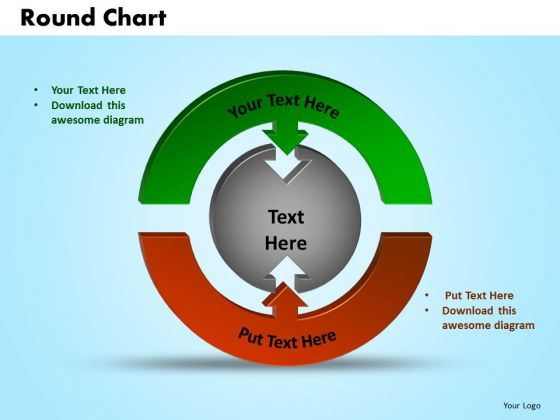 PowerPoint Themes Round Chart Success Ppt Themes
