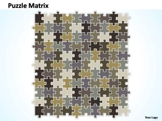 PowerPoint Themes Sale Puzzle Matrix Ppt Perentation