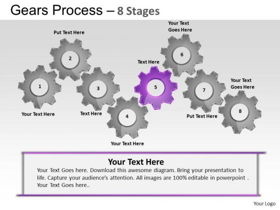 PowerPoint Themes Sales Gears Process Ppt Templates