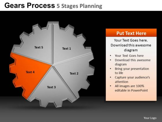 PowerPoint Themes Sales Gears Process Ppt Themes