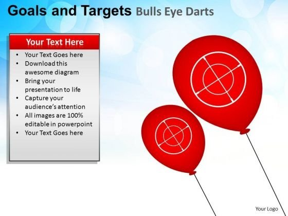 PowerPoint Themes Sales Goals And Targets Ppt Backgrounds