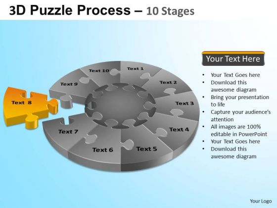 PowerPoint Themes Sales Puzzle Segment Pie Chart Ppt Slides