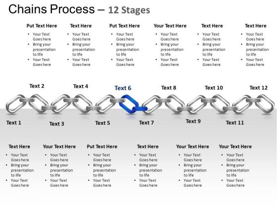 PowerPoint Themes Strategy Chains Ppt Templates