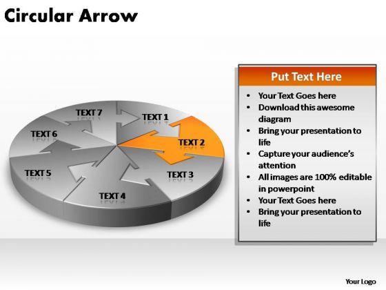 PowerPoint Themes Strategy Circular Arrow Ppt Design Slides