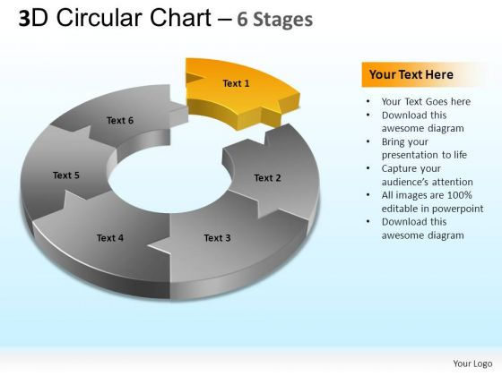 PowerPoint Themes Strategy Circular Chart Ppt Presentation