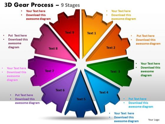 PowerPoint Themes Strategy Gear Process Ppt Design
