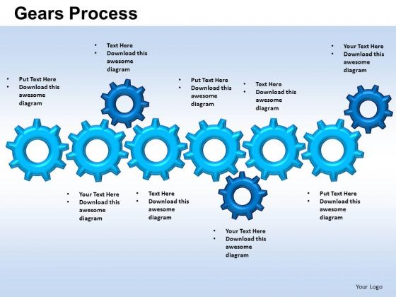 PowerPoint Themes Strategy Gears Ppt Designs