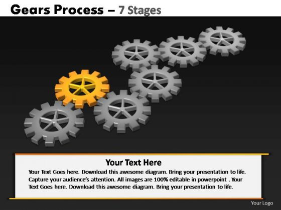 PowerPoint Themes Strategy Gears Process Ppt Templates