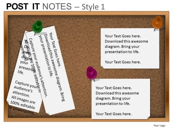 PowerPoint Themes Strategy Post It Notes Ppt Process