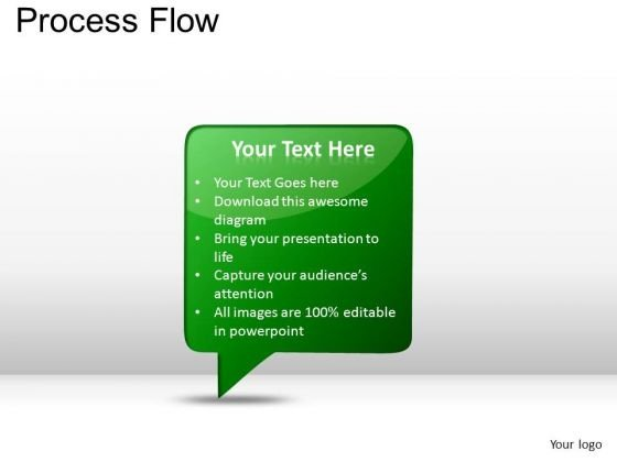 PowerPoint Themes Strategy Process Flow Ppt Layouts