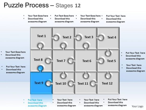 PowerPoint Themes Strategy Puzzle Process Ppt Design Slides