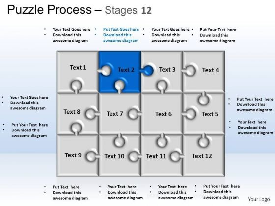 PowerPoint Themes Strategy Puzzle Process Ppt Designs