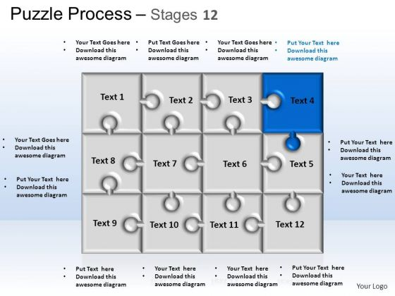 PowerPoint Themes Strategy Puzzle Process Ppt Layouts