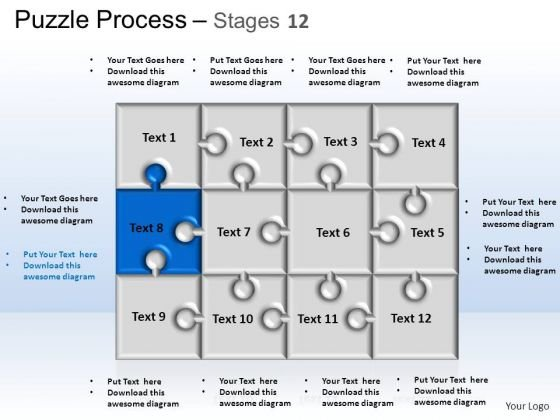 PowerPoint Themes Strategy Puzzle Process Ppt Process