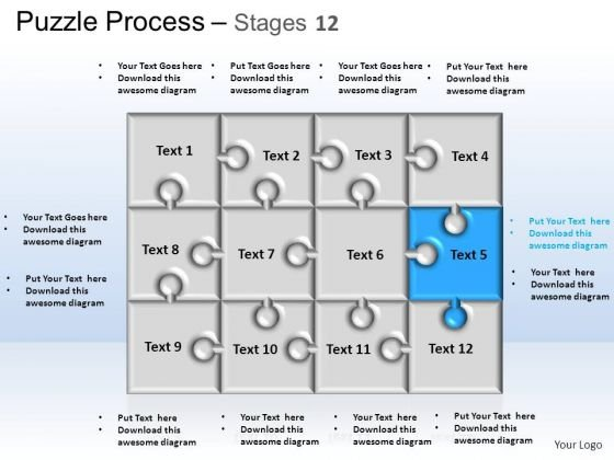 PowerPoint Themes Strategy Puzzle Process Ppt Slide Designs
