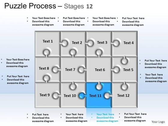 PowerPoint Themes Strategy Puzzle Process Ppt Template