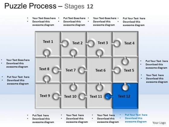 PowerPoint Themes Strategy Puzzle Process Ppt Theme