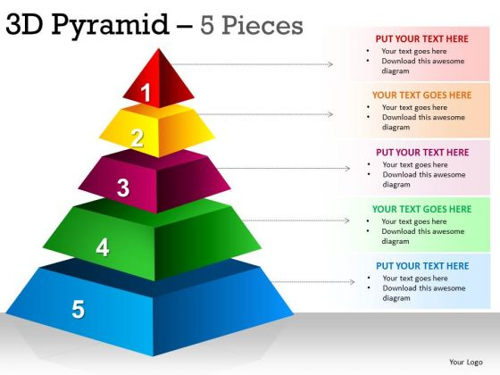 PowerPoint Themes Strategy Pyramid Ppt Slide