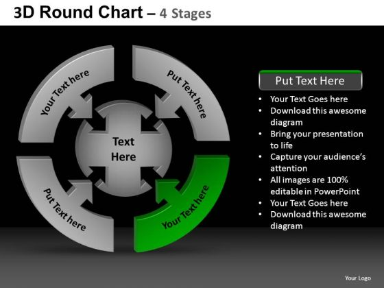 PowerPoint Themes Strategy Round Chart Ppt Layouts