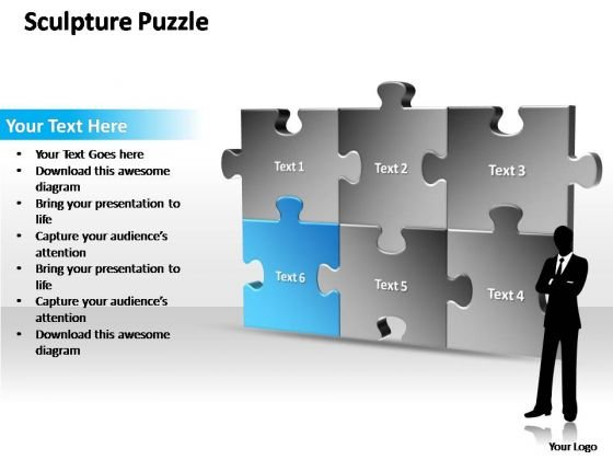 PowerPoint Themes Strategy Sculpture Puzzle Ppt Templates