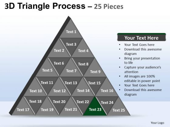 PowerPoint Themes Strategy Triangle Process Ppt Design