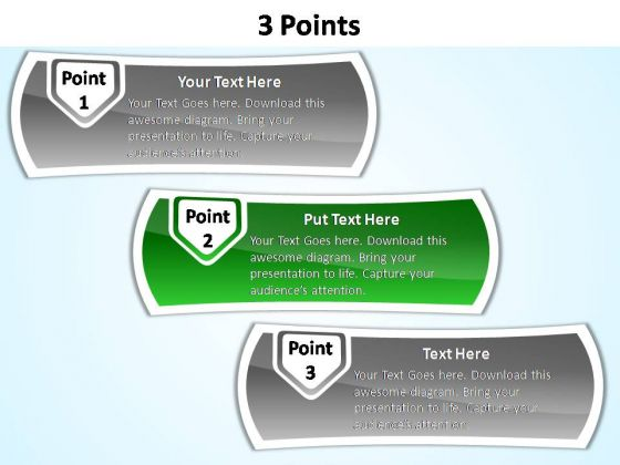PowerPoint Themes Success 3 Points Ppt Designs