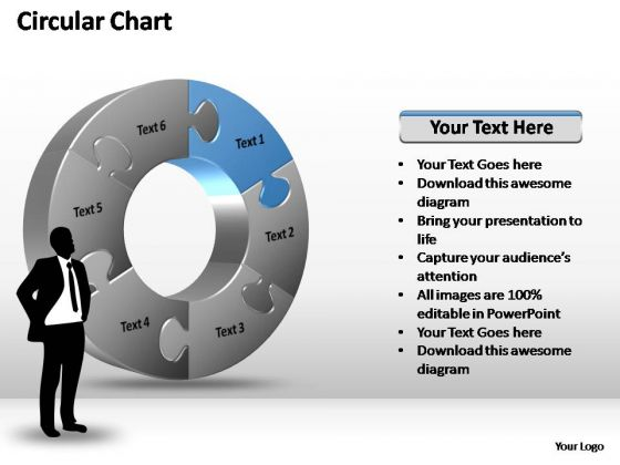 PowerPoint Themes Success Circular Chart Ppt Template