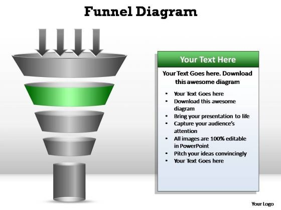 PowerPoint Themes Success Funnel Diagram Ppt Designs