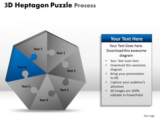 PowerPoint Themes Success Heptagon Puzzle Ppt Layouts