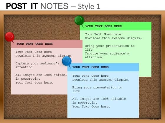 PowerPoint Themes Success Post It Notes Ppt Layouts