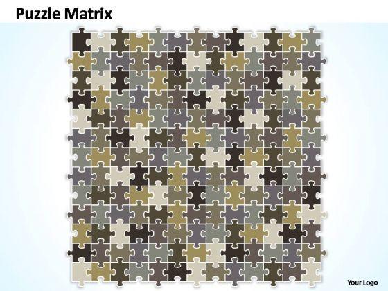 PowerPoint Themes Success Puzzle Matrix Ppt Perentation