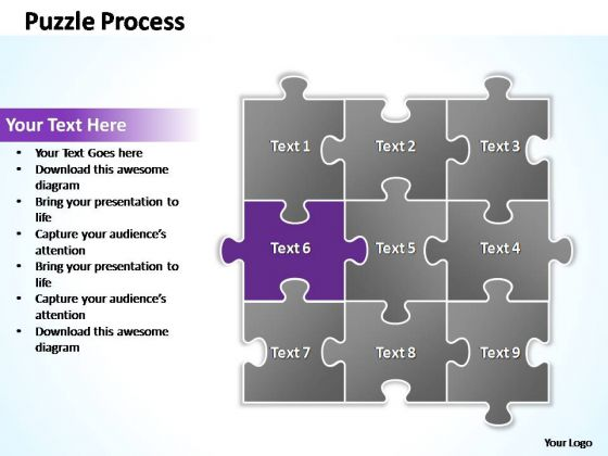 PowerPoint Themes Success Puzzle Ppt Slides