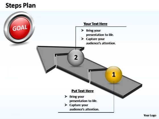 PowerPoint Themes Success Steps Plan 2 Stages Style 4 Ppt Designs