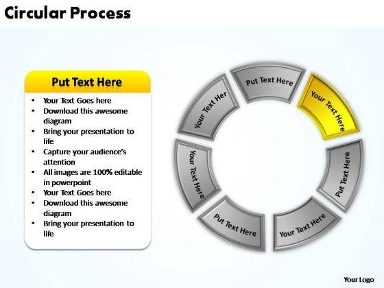 PowerPoint Themes Teamwork Circular Process Ppt Template