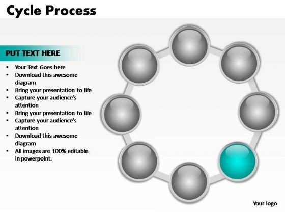 PowerPoint Themes Teamwork Cycle Process Ppt Design