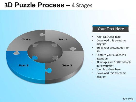 PowerPoint Themes Teamwork Jigsaw Pie Chart Ppt Theme