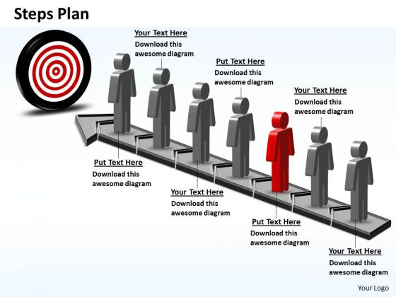 PowerPoint Themes Teamwork Steps Plan 7 Stages Style 6 Ppt Slides