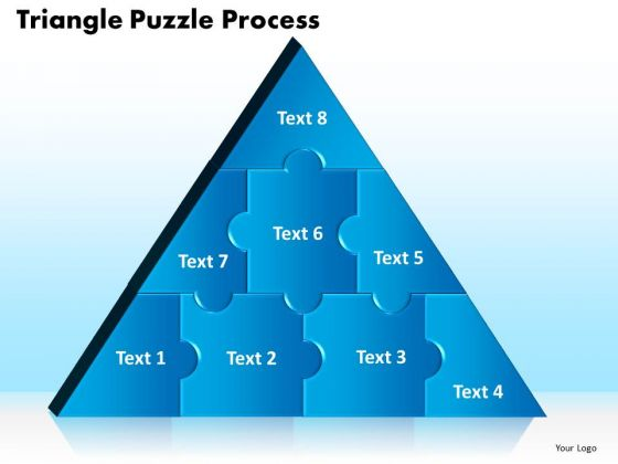 PowerPoint Themes Triangle Puzzle Business Ppt Themes
