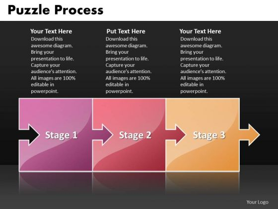 Ppt 3 Stages Multicolor Puzzle Diamond Mining Process PowerPoint Presentation Templates