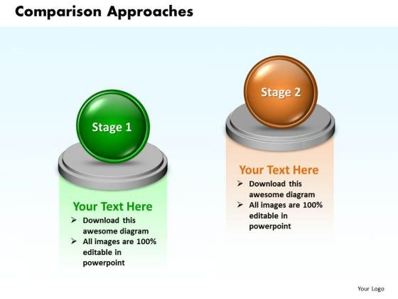 Ppt 3d Animated 2 Circular Approaches Comparison PowerPoint Templates