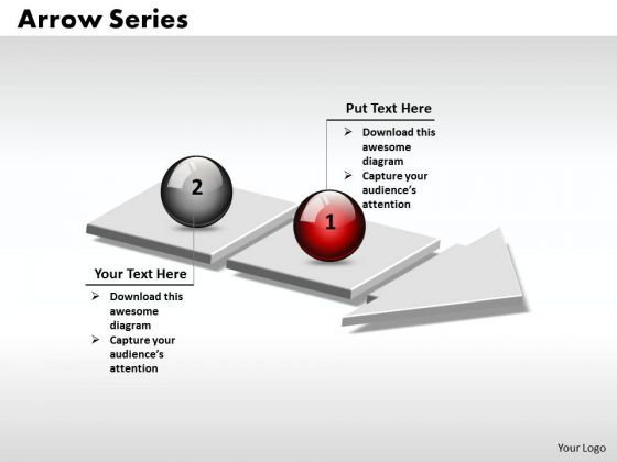 Ppt 3d Arrow Linear Series Of 2 State Diagram PowerPoint Templates