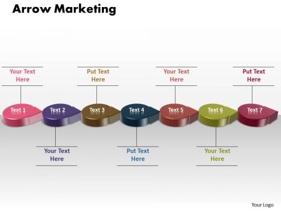 Ppt 3d Circle Arrow Social Media Marketing PowerPoint Presentations Strategy Templates