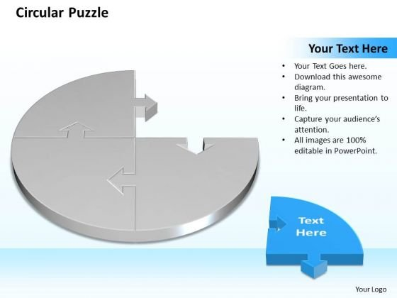 Ppt 3d Circular Puzzle Showing Missing Piece Diagram Business PowerPoint Templates