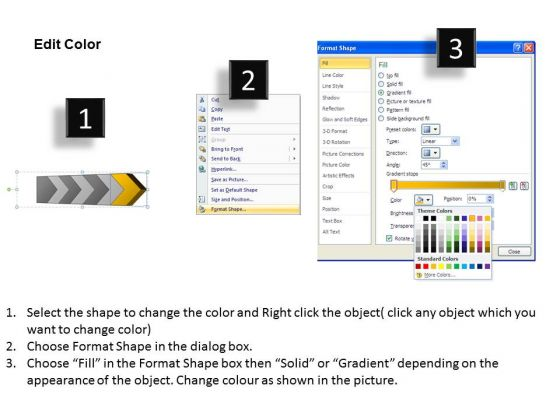Ppt 3D Continuous Arrow Powerpoint Slide Numbers Spider Diagram