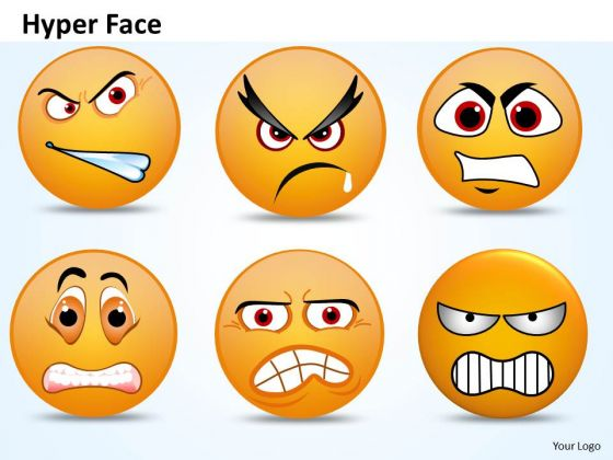 Ppt 3d Emoticon Showing Hyper Face Operations Management PowerPoint Business Templates