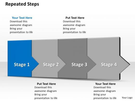 Ppt 3d Following Representation To Prevent Finance Losses Four Steps PowerPoint Templates
