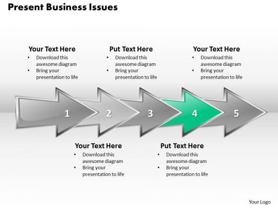 Ppt 3d Horizontal Abstraction To Present Business Issues Six Steps PowerPoint Templates