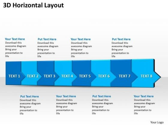 Ppt 3d Horizontal Illustration To Hold Marketing Losses Eight Steps PowerPoint Templates