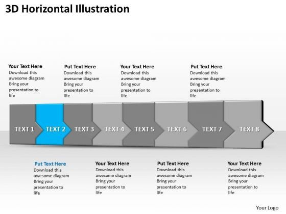 Ppt 3d Horizontal Illustration To Prevent Business Losses Eight Steps PowerPoint Templates