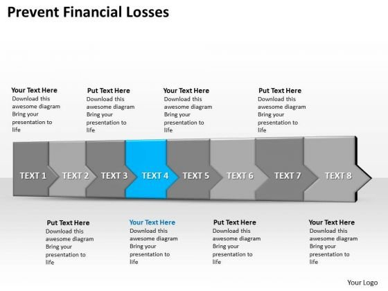 Ppt 3d Horizontal Illustration To Prevent Finanncial Losses Eight Steps PowerPoint Templates